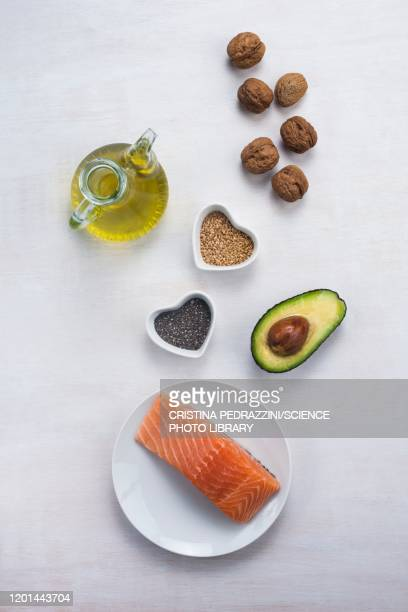 foods high in omega-3 - fatty acid stock pictures, royalty-free photos & images