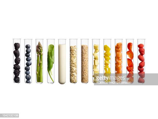foods in test tubes - vial stock pictures, royalty-free photos & images