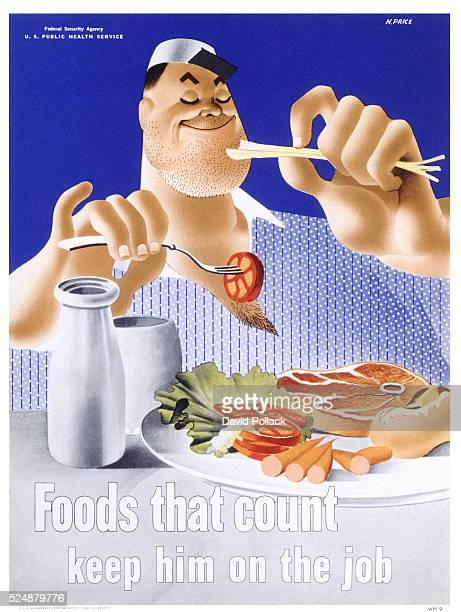 Foods That Count Keep Him on the Job Poster by Price