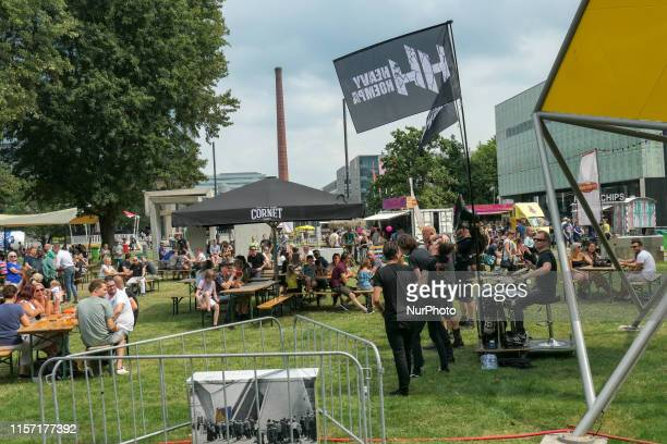 Foodstock 2019 Food Drinks and Music festival in Eindhoven Netherlands on 21 July 2019 during the summer of 2019 at TUe Eindhoven University of...