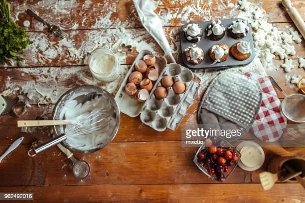 foodstuffs on the table - messy stock photos and pictures