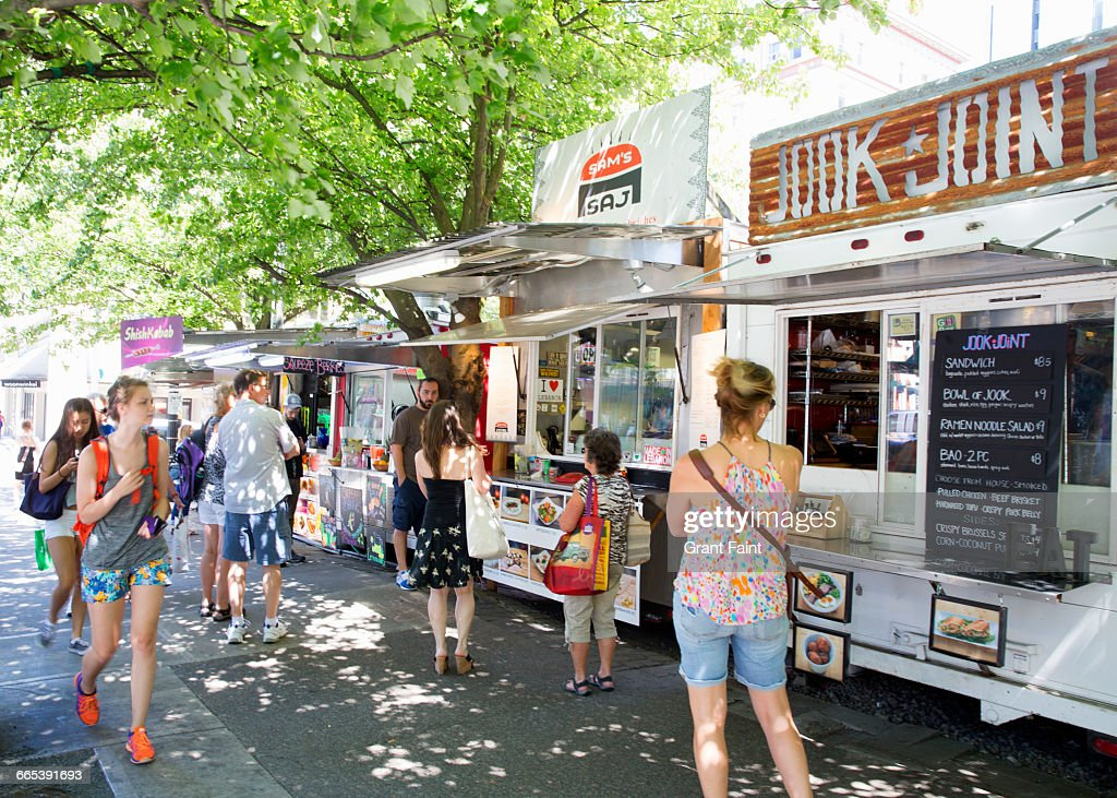 Foodtrucks. : Stock Photo