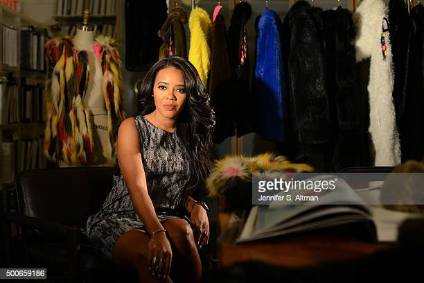 Foofi designer Angela Simmons is photographed for New York Times on March 31 2015 in New York City PUBLISHED IMAGE