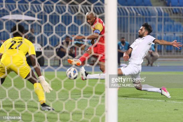 Foolad's forward Chimba attempts a shot during the AFC Champions League group D match between Iran's Foolad and Qatar's Al-Sadd on April 26 at the...