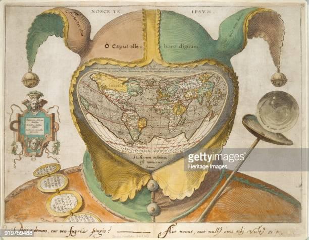 Fools Cap World Map circa 1590 Artist Unknown