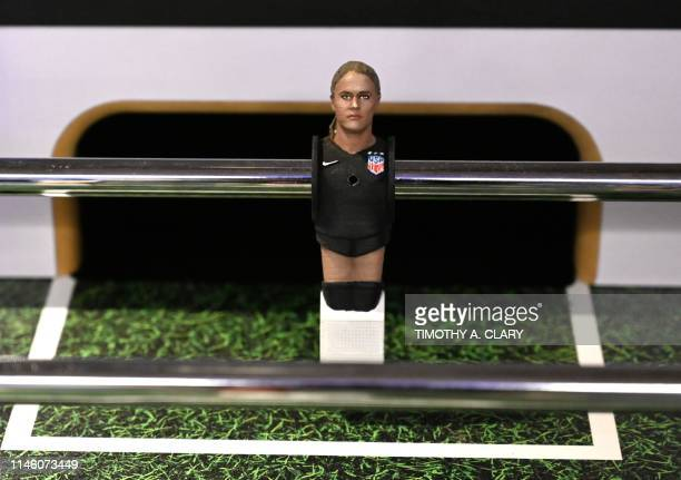 A foosball figurine of 2019 US Soccer Womens National Team goalkeeper Alyssa Naeher which was presented by FOX Sports unveiling a firstofitskind...