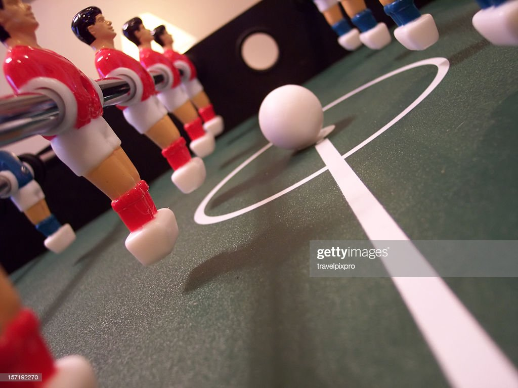 Foosball Kickoff : Stock Photo