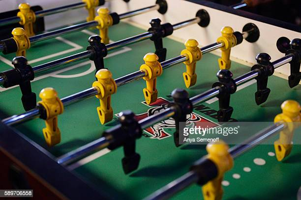 A foosball table at Pitchers Bar and Grill on August 4 in Aurora Colorado Pitchers has been in business since 1989
