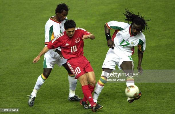 1/4 Final Senegal Turkey World Cup 2002 /Aliou Cisse Yildiray Basturk Ferdinand Coly Turquie Turkije Copyright Corbis