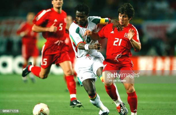 1/4 Final Senegal Turkey World Cup 2002 /Cisse Aliou Belozoglu Emre Turquie Turkije Copyright Corbis /