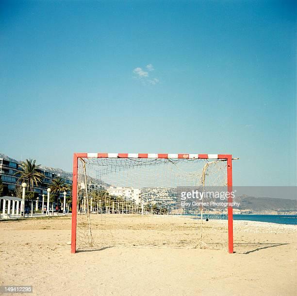 Foot ball on the beach