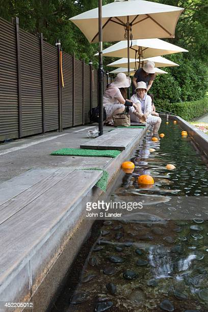 Foot Bath at Chukokunomori or Hakone Open Air Museum Foot baths are all the rage in Japan often in front of railway stations in hot spring towns to...