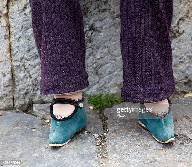 foot binding -  lotus feet - foot binding stock pictures, royalty-free photos & images