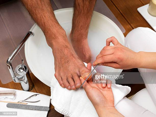 foot care (click for more) - male feet stock photos and pictures