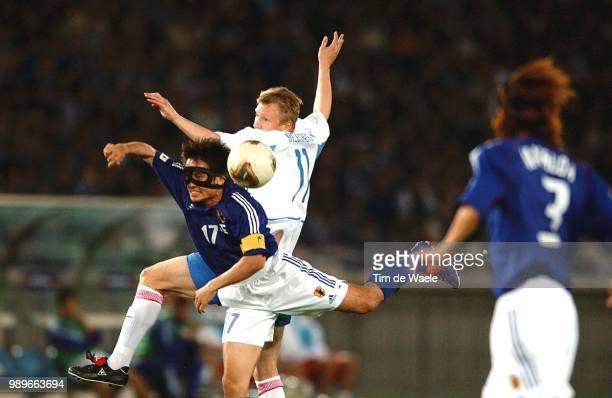 Japan Russia World Cup 2002 /Miyamoto Tsuneyasu Beschastnykh Vladimir Russie Rusland Japon Copyright Corbis