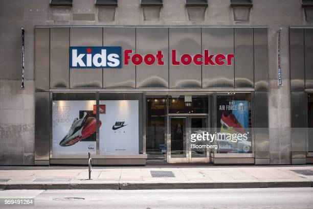 A Foot Locker Inc Kids store stands in downtown Chicago Illinois US on Sunday May 13 2018 Foot Locker Inc is scheduled to release earnings figures on...