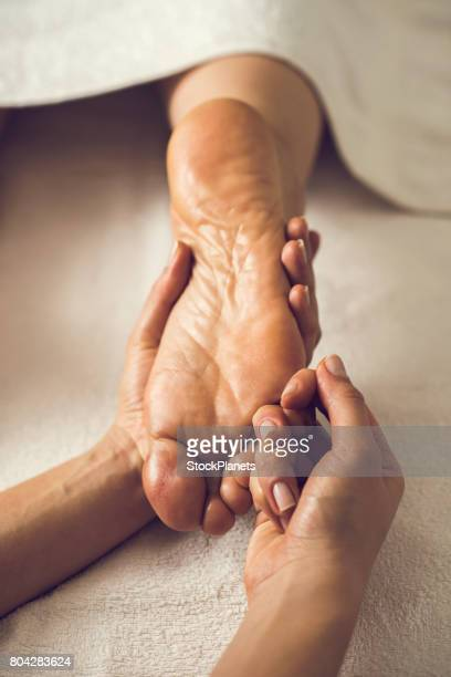 Foot massage at the spa!