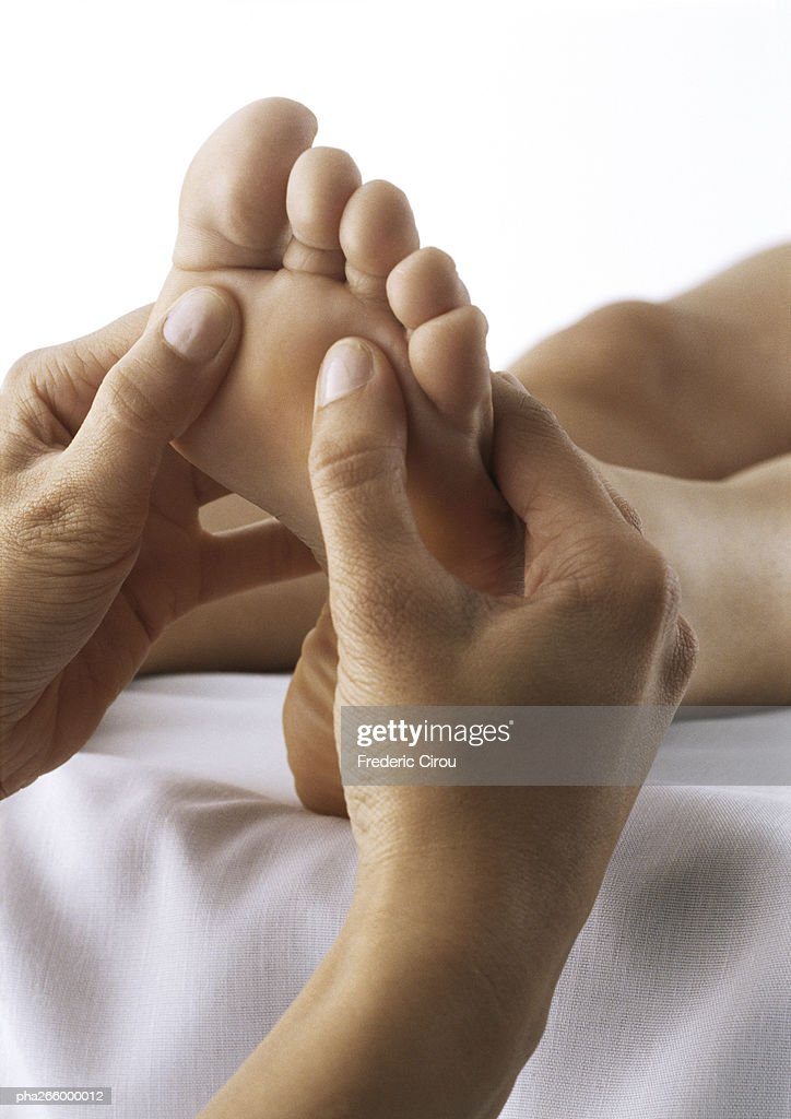 Foot massage, close-up : Stockfoto