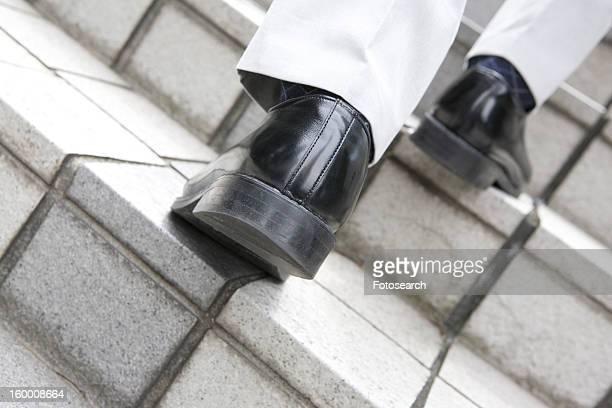 Foot of businessman
