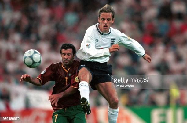 Foot Portugal Englandneville Phil Figo Luis Footballvoetbal Portugal England Angleterreengeland Euro 2000 Iso Sport Im335594 Football Voetbal...
