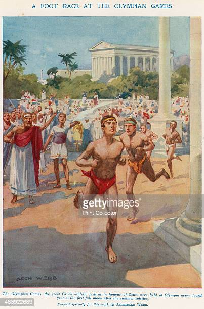 'A Foot Race at the Olympian Games' Ancient Greece The Olympian Games the great Greek athletic festival in honour of Zeus were held at Olympia every...