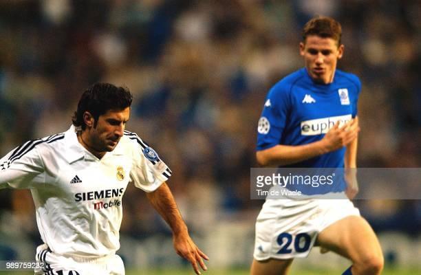 Real Madrid Rc Genk Figo Luis Daerden Koen Champions League Racing Uefa