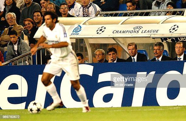 Real Madrid Rc Genk Figo Luis Greco Tony Daerden Jos Vergoossen Sef Champions League Racing Uefa