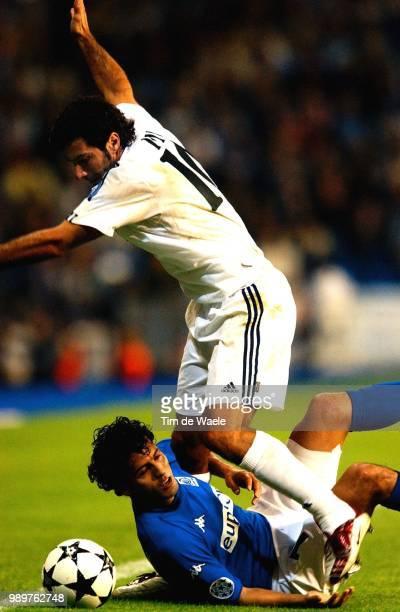 Real Madrid Rc Genk Figo Luis Roumani Akran Champions League Racing Uefa