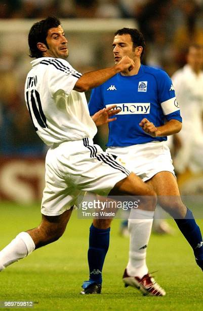 Real Madrid Rc Genk Figo Luis Skoko Josip Champions League Racing Uefa
