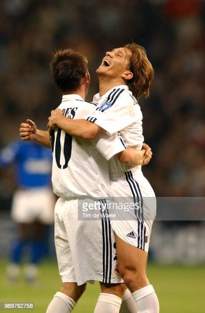 Real Madrid Rc Genk Joie Vreugde Celebration Celades Albert Salgado Michel Champions League Racing Uefa