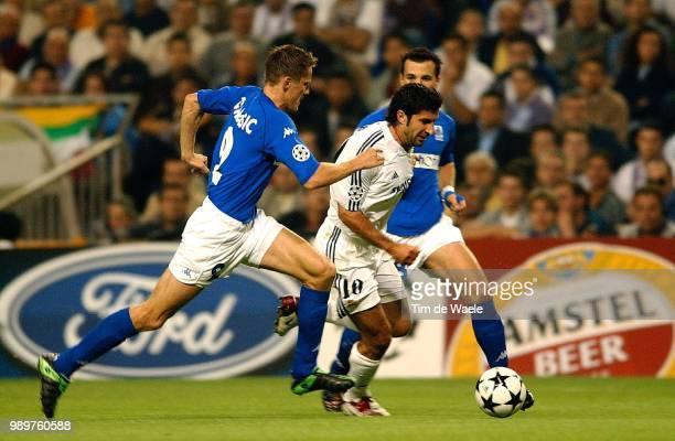 Real Madrid Rc Genk Tomasic Igor Figo Luis Vanbeuren Kevin Champions League Racing Uefa