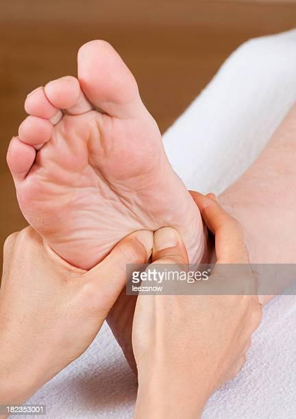 Foot Reflexology Massage Close-up