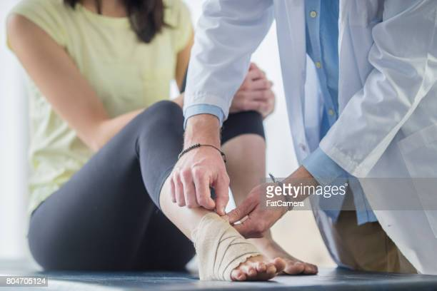 foot support - personal injury stock photos and pictures