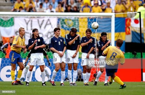 Sweden Argentina World Cup 2002 /Goal But Svensson Anders Alexandersson Niclas Almeyda Matias Zanetti Javier Batistuta Gabriel Lopez Claudio Ortega...