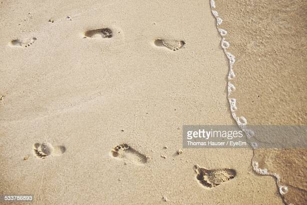 Foot Track In Sand