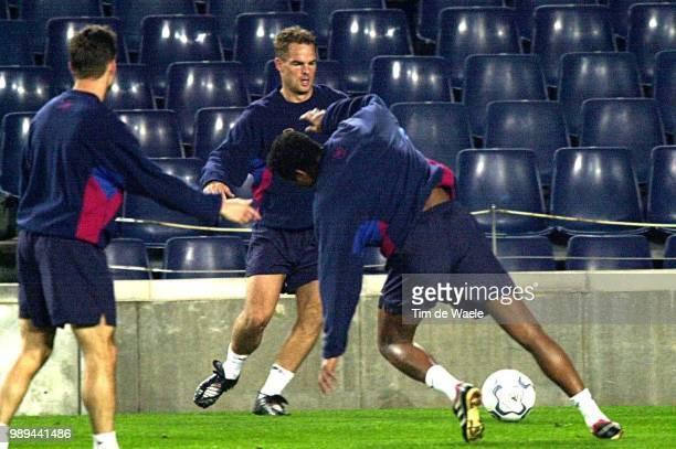 Foot Training BarcelonaFc Deboer Frank Kluivert Patrick Iso Sport Football Voetbal Training Entrainement Training Barcelona Fc Barcelone Fc Im 335944...