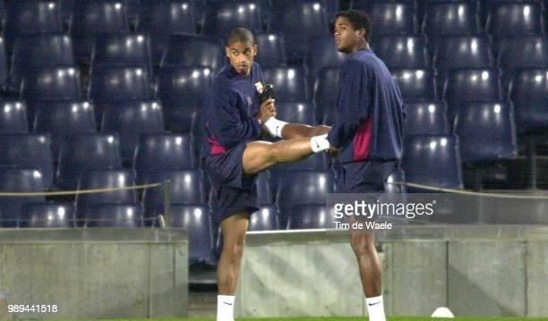 Foot Training BarcelonaFc Kluivert Patrick Reiziger Michael Iso Sport Football Voetbal Training Entrainement Training Barcelona Fc Barcelone Fc Im...