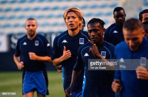 Training Rc Genk, Letna Stadion, Suzuki Takayuki, Zokora Didier Maestro, Sonck Wesley, Racing, Entrainement, Stade,