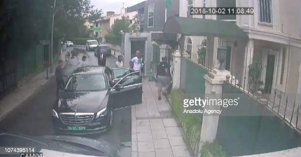 Footage captured from security camera shows Intelligence officer Naif Hassan S. Alarifi , member of 15-man execution team is seen entering at the...