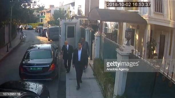 Footage captured from security camera shows Intelligent officer Maher Abdulaziz M. Mutreb , member of 15-man execution team is seen leaving at the...