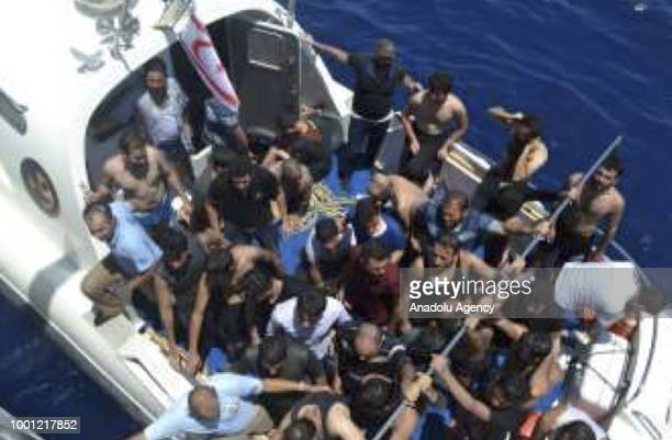 A footage captured shows that migrants are being saved as coast guard cutter carries out search and rescue work after a boat carrying undocumented...