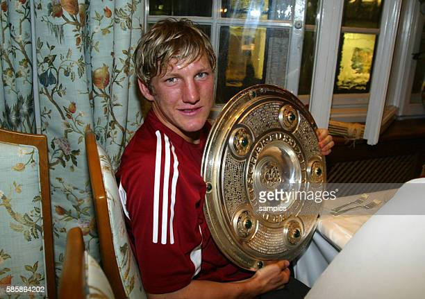 FC Bayern Munchen German Champion 2003 264 2003 Bastian Schweinsteiger with the champions trophy | Location Mnchen Deutschland