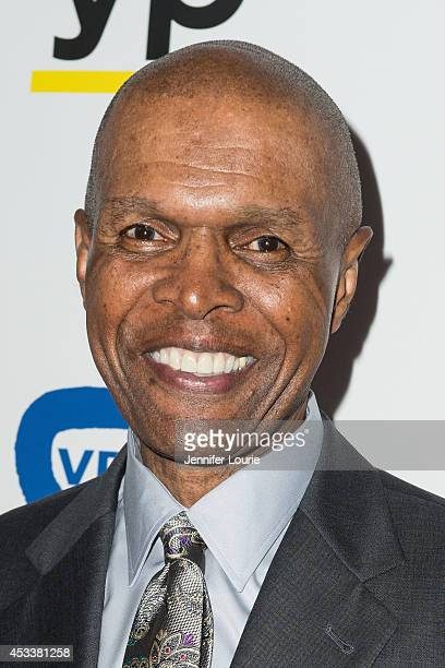 Footbal player Gale Sayers arrives at the 14th Annual Harold Carole Pump Foundation Gala at the Hyatt Regency Century Plaza on August 8 2014 in...