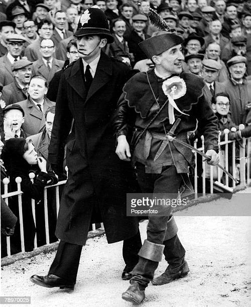 Football 15th March History repeats itself once again 'Robin Hood' an enthusiastic Nottingham Forest supporter dressed likie the local hero from...