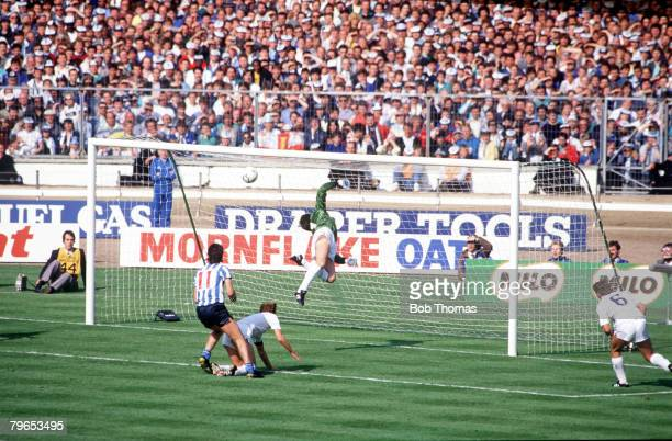 Football 16th May 1987 FA Cup Final Wembley Coventry City 3 v Tottenham Hotspur 2 aet Tottenham's goalkeeper Ray Clemence dives in despair as the...