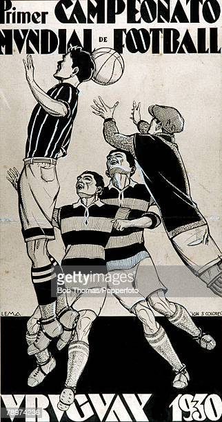 Football 1930 World Cup Uruguay South America A poster for the first World Cup
