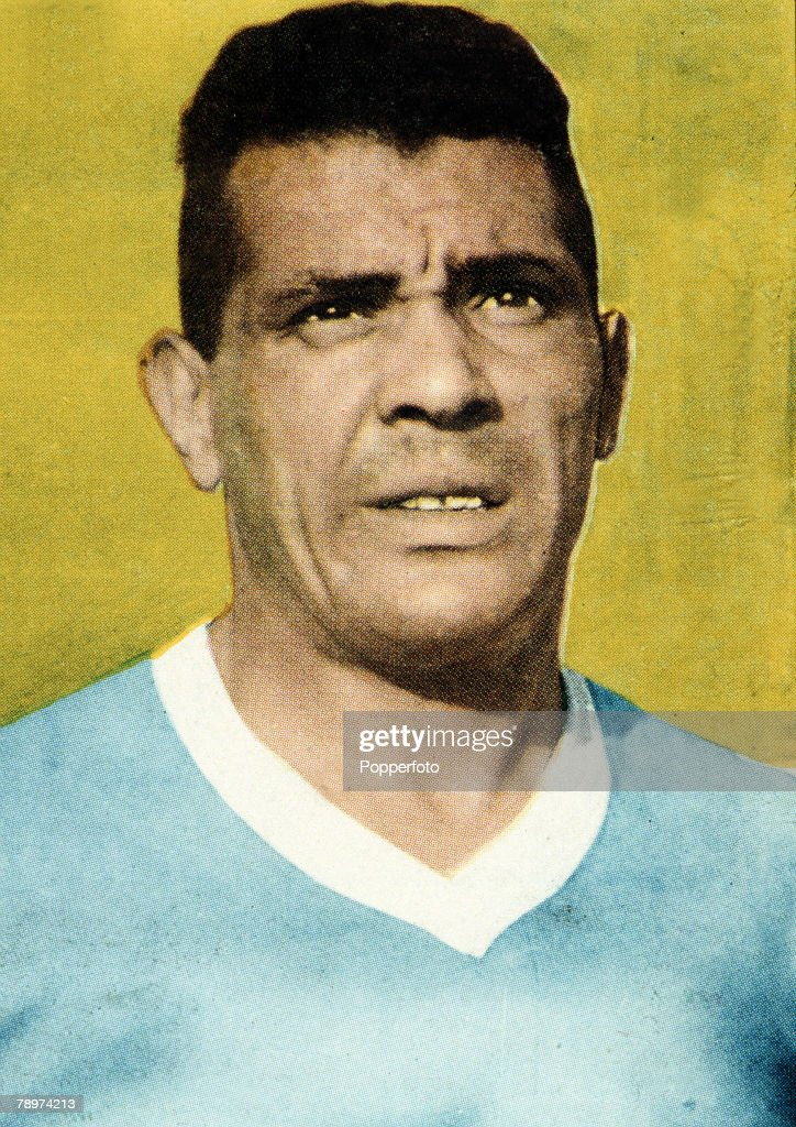 Football. 1950 World Cup Finals. A portrait of Obdulio Varela, the Uruguay World Cup winning captain of 1950. : News Photo