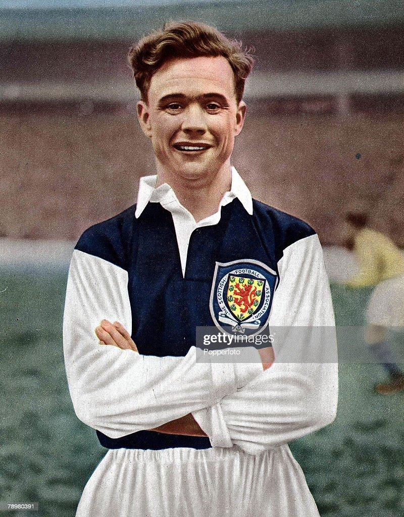 b242d36eaaa Football. 1950+s. Clyde and Scotland International Harry Haddock. He gained  6