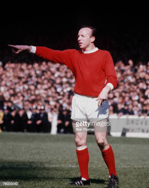 Football 1960's Manchester United's Nobby Stiles pointing