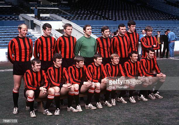 Football 1969 Manchester City pose for a team group photograph at Maine Road